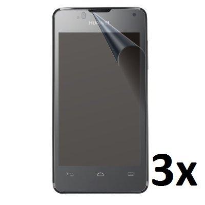 Saxonia 3x Bildschirmschutzfolie für Huawei Ascend Y300 Folie Matt inkl. Mikrofasertuch