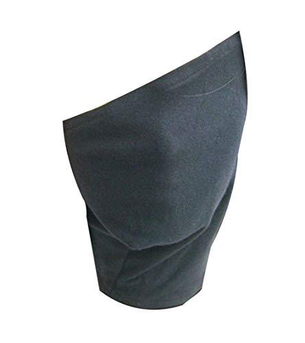 Jebester Stirnband/Stirnschutz und Gesichtsmaske für Ninja-Cosplay, Leaf Village Logo, Metall, Schwarz