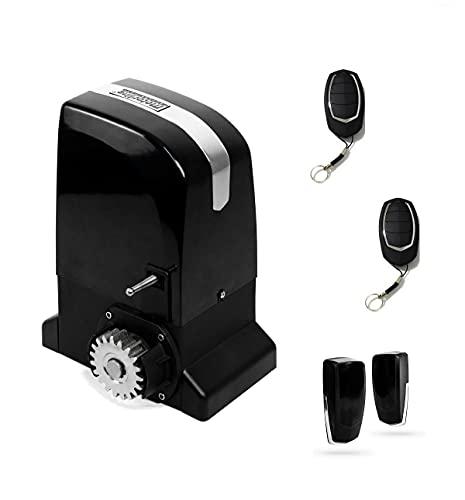 KIT Motor corredera Motorline Slide 800 Kg, para automatizar puertas y cancelas correderas de uso residencial, parking, garaje, cochera, alta calidad con 2 mandos alta seguridad