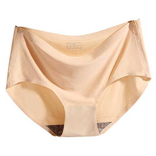 kowaku Calcinha feminina sem costura de cintura média Hipster, Normal Skin, XL