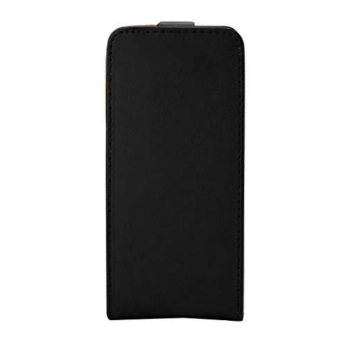 GUODONG Carcasa de telefono for Funda de Cuero con Tapa Vertical y Forro Color Caqui Xperia E5 de Sony (Negro) Funda Trasera para Smartphone (Color : Black)