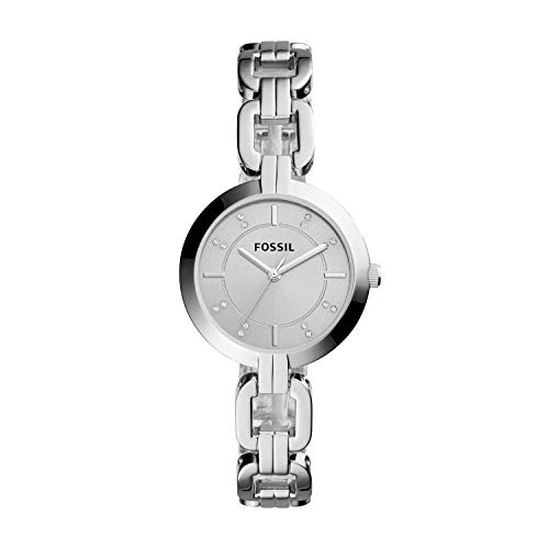 Fossil Women's Kerrigan Quartz Stainless Steel Dress Watch, Color: Silver (Model: BQ3205)