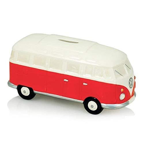 VW - Hucha (cerámica), diseño de furgoneta, color rojo y blanco