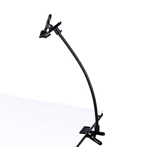 Photo Studio Lighting Light Stand Clamp Background Clip Gooseneck Tube Small Size Reflector Holder