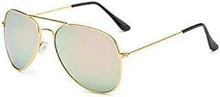 TYJYY Sunglasses Lunettes De Soleil Mode Femmes Style Pilote Femmes Lunettes De Soleil en Métal Cadre Lunettes De Soleil A...