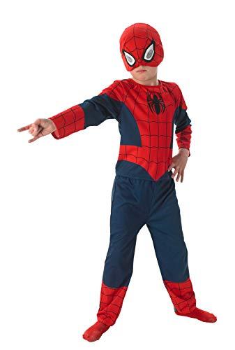 Rubies 3889569 - Costume di carnevale, motivo: Ultimate Spiderman, da bambino, in 3 parti, taglia M