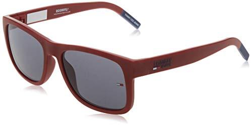 Tommy Hilfiger Unisex-Erwachsene TJ 0001/S Sonnenbrille, MATT ROT, 56