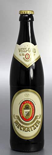 Bierflaschenkerze/Kerze Bierflasche Meckatzer Weiss-Gold - 2038 - Bayerische Geschenke - Bayrische Kerze