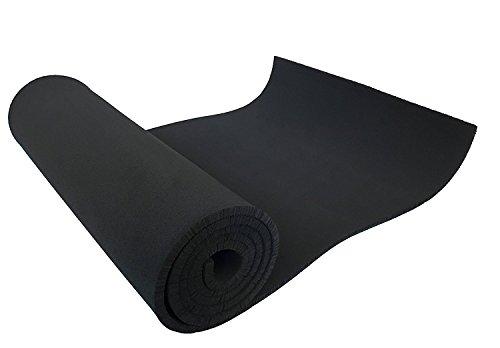XCEL - Medium Soft Cosplay Craft Foam Roll, Black, Size 54 Inch x 12 Inch x 1/4 Inch