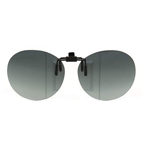 Round Clip on sunglasses flip up men women fashion Polarized popular oval UV400 driving fishing night vision sunglasses lenses