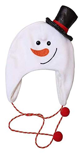 キッズ大人のクリスマス帽子冬のブラシ布ロングロープサンタクロースの帽子雪だるまハット漫画雪だるまエルクハットハット、子鹿の帽子(カラー、子鹿ハット)、雪だるまハット (色 : Snowman Hat)