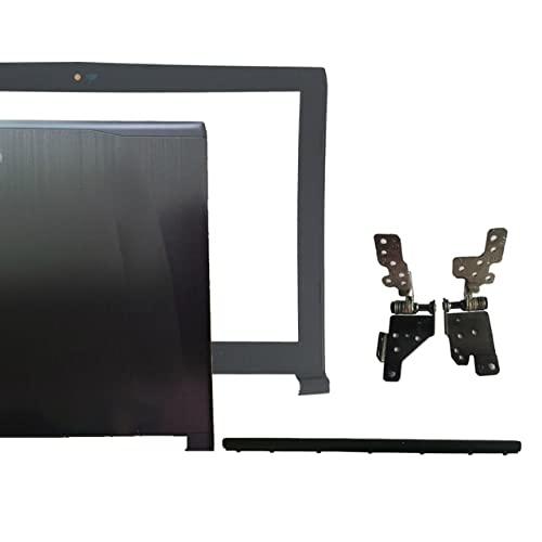 wangch Laptop-Ersatzteile Kompatibel mit MSI GE62 2QD-007XCN MS-16J1 16J1 16J2 16J3 Obere LCD-Rückseite schwarz Non-Touch/LCD-Rahmenabdeckung/LCD-Scharniere LundR/Scharnierabdeckung