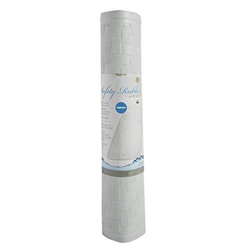Ginsey Home Solutions AquaTouch de sécurité en Caoutchouc Tapis de Bain, Medium 35,6 x 61 cm, Blanc, Taille M