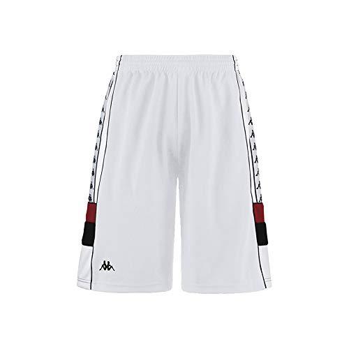 Kappa Mens 222 Banda ARAWA Bermuda Shorts 303WBR0-973 White-RED-Black L