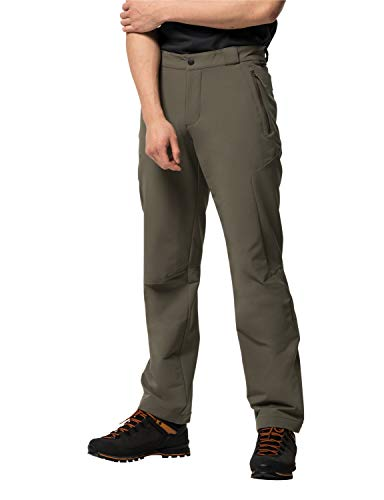 Jack Wolfskin Herren Activate THERMIC Pants Men Softshell-Hose, Granite, 98