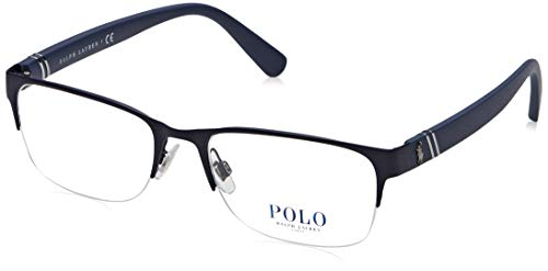 Polo 0PH1181 Monturas de gafas, Rectangulares, 56, Matte Navy Blue