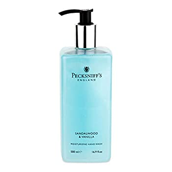 16.9 Fluid Oz Hand Wash  Sandalwood & Vanilla  - Gentle Cleanser for Sensitive Skin - Moisturizing & Hydrating - All Natural Cruelty Free Hand Wash - Vitamin B Enriched Hand Wash - Pecksniff's