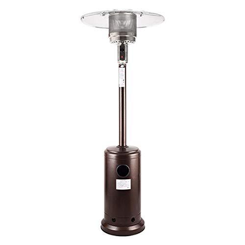 JCCOZ-URG Calentador de Patio de propano Fluido de Acero Inoxidable URG (Color : Bronze)