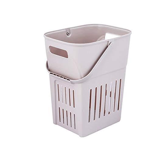 WJS Cesto de Ropa Sucia Cesta de lavandería lavandería Cesta portátil baño Ducha Cabina de plástico japonés obstaculizar (Color : A, Size : Second Floor)