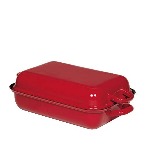 Riess 0104-019 patelnia z pokrywką 32/22 kolor czerwony