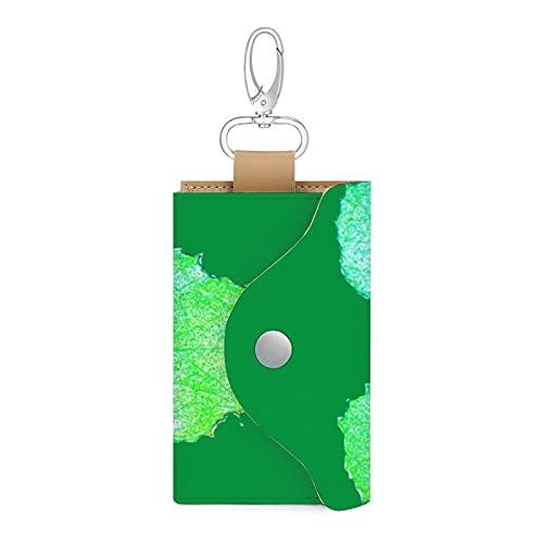 Funda de piel sintética para llave de coche, diseño de hoja de squash