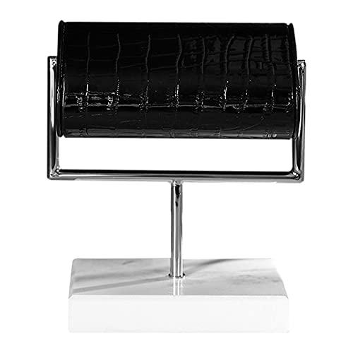 keleiesXD Soporte giratorio de joyería con soporte de metal para reloj con base de mármol, estante de exhibición moderno de alta calidad easy to use