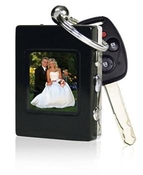The Sharper Image Digital Photo Keychain Black