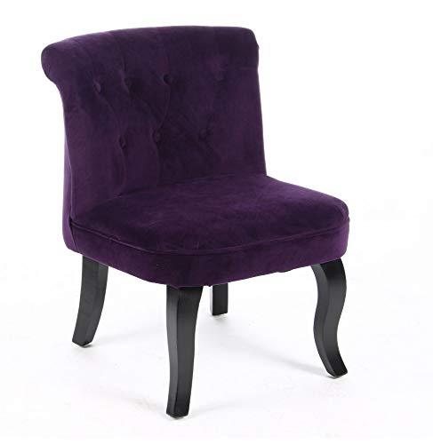 Fauteuil Crapaud Velours Violet 121363F