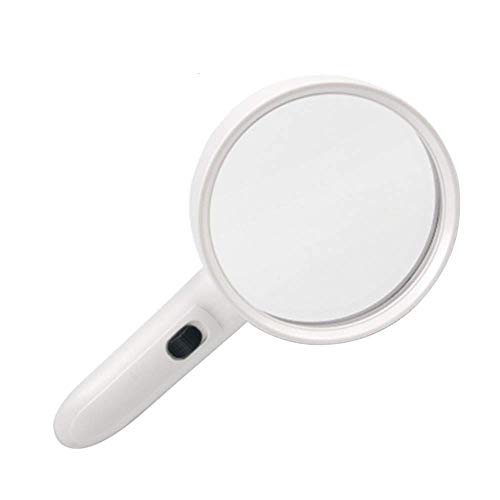 XUXUWA High-Definition, Led Magnifiers Handheld 10x Old Man Reading Glass with Uv Light Electronic Repair Stamp Identification Mirror