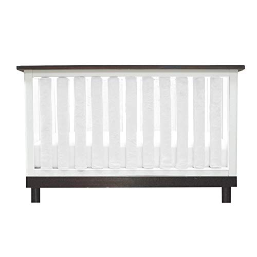 PURE SAFETY Vertical Crib Liners in Luxurious White Minky 38 Pack