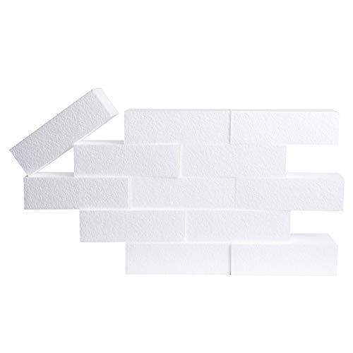 Silverlake Schaumstoff-Block, 18 Stück, 2,5 x 3,5 x 8 EPS Styropor-Steine zum Basteln, Modellieren, Kunstprojekte und Blumengestecke, für Heimwerker, Schule und Heimkunst-Projekte 12 pack