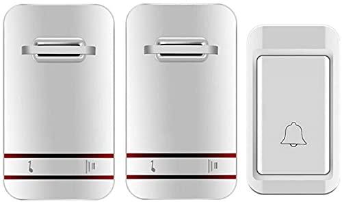 DZCGTP Timbre inalámbrico Uno para Dos sin batería Timbre de Puerta Autogenerador Timbre de casa inalámbrico Llamador Antiguo Interruptor de autogeneración
