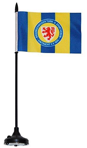 Flaggenfritze Tischflagge Sound Eintracht Braunschweig - 34 x 6 cm + gratis Aufkleber