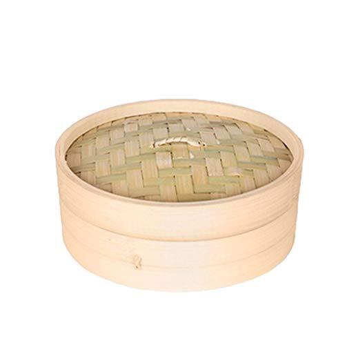 Vapeur en bambou simple durable avec couvercle Cuisine Ustensiles de cuisine Poisson Riz Dim Sum Snack Panier Riz Pâte Vapeur (Taille : 24CM)