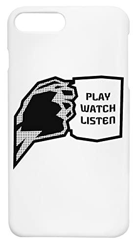 Play Watch Listen Coffee Plástico iPhone 7 Plus, 8 Plus Caja del Teléfono a Prueba de Golpes Phone Case Shockproof