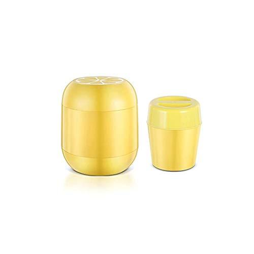 SJYDQ Gefrorene doppelwandige Deluxe-Eiscreme-Gefrierschüssel & Rezepte (Color : Yellow)