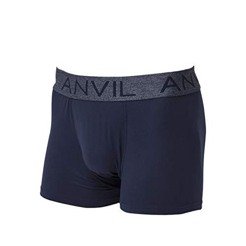 (アンヴィル) anvil (アンビル) ボクサーパンツ 前閉じ メンズ 太ベルト ANV8201 アンダーウェア 無地 黒 ブラック パンツ ロゴ おしゃれ インナー 紳士用