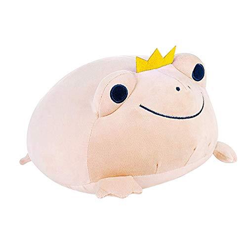 PERFECTHA Reducido animal rana peluche juguete suave rana pelusa almohada elástico peluche rana adorable relleno rana tierno regalo para niños modern