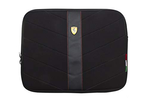 Scuderia Ferrari Neoprene Sleeve for 13-inch Laptops & Notebooks - Black