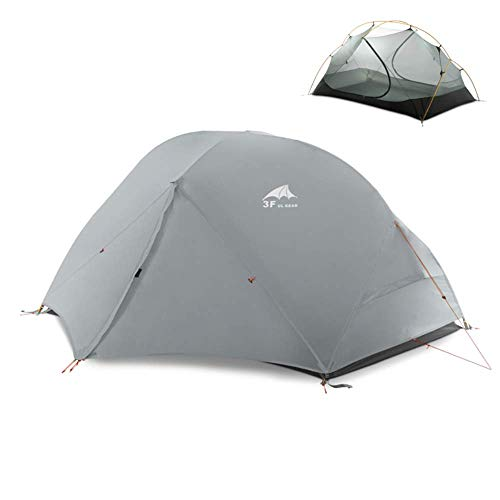DYGZS tent Camping Tent 3-4 Season 15d Outdoor Ultralight Silicon Coated Nylon Hunting Waterproof Tents 15D Gray 4 season