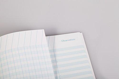 Clairefontaine 3129C - Un cahier de bord piqué 9 classes 60 pages 21x29,7 cm 110g, couverture carte pelliculée couleur aléatoire