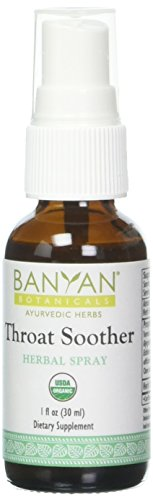 Banyan Botanicals Throat Soother Herbal Spray, USDA Organic, Ayurvedic Formula Designed to Support Throat Comfort and Well-Being