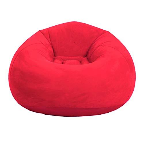 HAIMEN - Poltrona a sacco pieghevole, molto soffice, gonfiabile, in memory foam con rivestimento in microfibra Suede, mobile e accessorio per il soggiorno