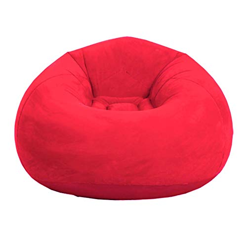 CANCYCC Beanless Bag Aufblasbarer Stuhl, Air Sofa Ultra Soft Aufblasbare Lazy Sofa Stuhl für Wohnzimmer, Schlafzimmer, Spielzimmer, Schlafsaal usw. (109,2 cm L x 109,2 cm B x 83,8 cm) H)