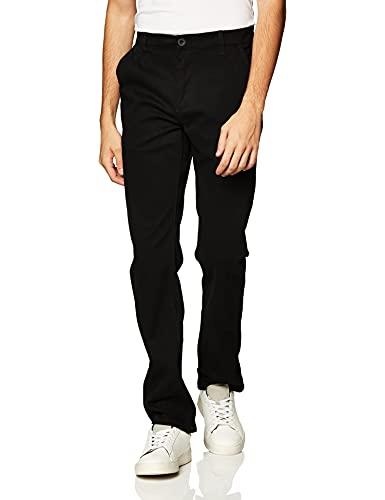 Southpole Men's Flex Stretch Basic Long Chino Pants, Black(New), 34X30
