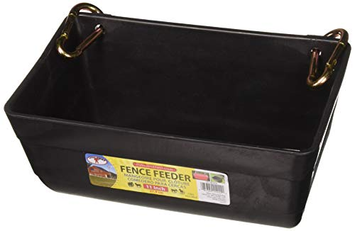 (2 Pack) Little Giant Fence Feeders With Clips, 11-Inch, Black