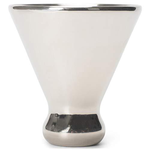 Cork Pops Reflective Silver Tone 6 Ounce Freezer Gel Martini Cup Barware Accessory