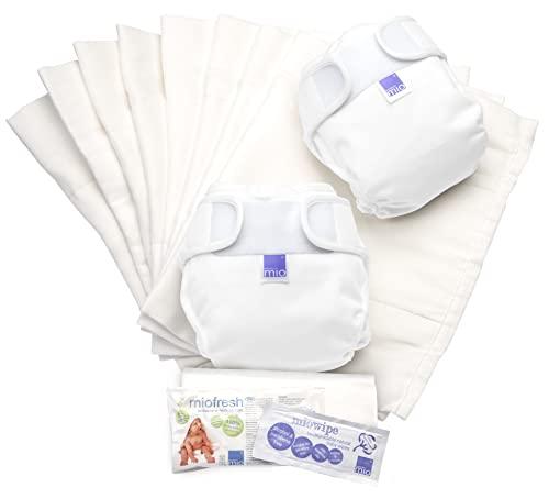 Bambino Mio Mioduo Set de Actualización de Pañales Reutilizables, Blanco, Talla 2 (9 Kg+)