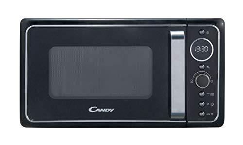 Candy, Divo G20CMB, Microondas con grill 20l, 1200W, 9 programas, Express cooking, Temporizador, Display digital circular, 6 niveles de potencia, Color negro