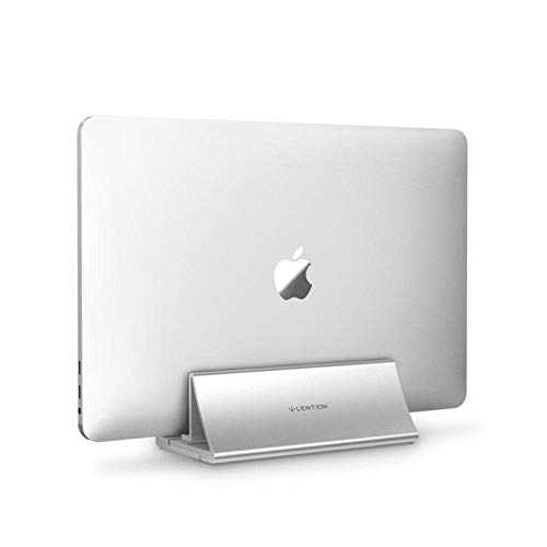 Aluminum Space-Saving Vertical Desktop Stand for MacBook Air/Pro 16 13 15, iPad Pro 12.9, Chromebook and 11 to 17-inch Laptop,Silver